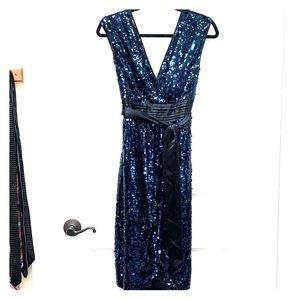 BCBG Blue Sequin Dress